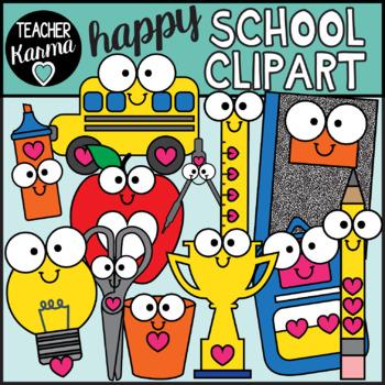 School Clipart - Happy Style