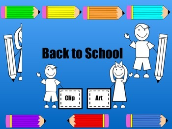 School Clipart: Kids and Pencils