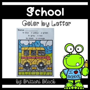 School- Color by Letter