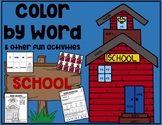 SCHOOL Color by Word & Activity Pack