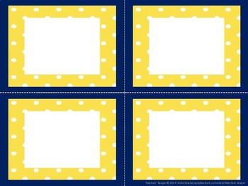 School Colors Editable Labels: Blue & Gold