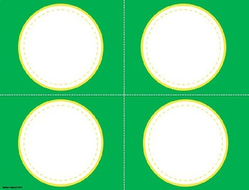 Classroom Decor Editable Labels: Green and Gold