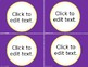 Classroom Decor Labels: Purple & Gold Editable