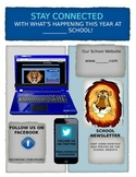 School Communication Flyer - Editable ! Staying Connected with Your School!