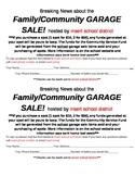 School Community Garage Sale