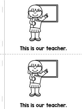 School Community Helpers {printable mini book} -FREEBIE!