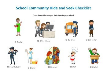School Community Hide and Seek Checklist