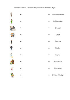 School Community Hide and Seek attribute of two object math worksheets