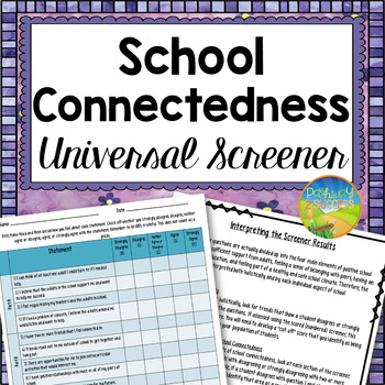 School Connectedness Screener