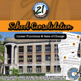 School Consolidation - Linear Rate of Change - 21st Century Math Project