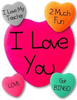 School Conversation Hearts Clip Art ~ Valentine's Day Graphics ~ FREEBIE