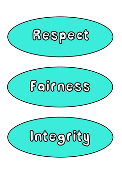School Core Values Display - Colourful