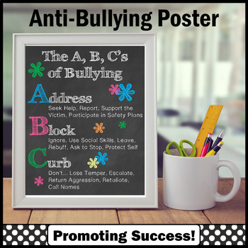 Anti Bullying Poster, School Counselor Poster