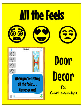 School Counseling- All the Feels Door Decor