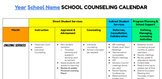 School Counseling Annual Calendar