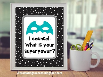 I Counsel What is your Superpower? Counselor Office Decor Counselor Appreciation