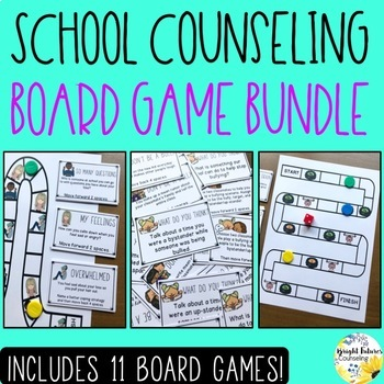 School Counseling Board Game BUNDLE School Counseling Games
