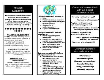 School Counseling Brochure