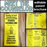 School Counseling Brochure for Parents (Editable)