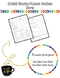 School Counseling Child Study/Case Notes Form