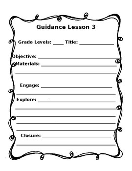 School Counseling:  Classroom Guidance Template