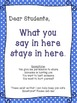 School Counseling Confidentiality Poster - MULTIPLE COLORS polka dot