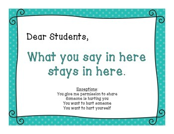 School Counseling Confidentiality Poster - Teal