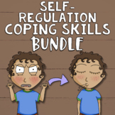 Self-Regulation Coping Skills Bundle: Calm Corner, SEL Lessons, Games & Decor