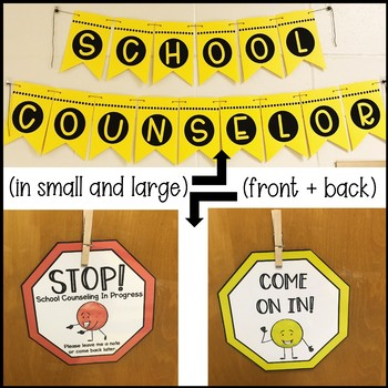 School Counselor Door Decor and Counseling Self-Referral System