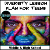 """School Counseling """"Diversity"""" Lesson Plan for Teens in Middle & High School"""