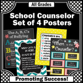 Where is the Counselor Door Sign, Counselor Posters SET Yellow Teal Coral