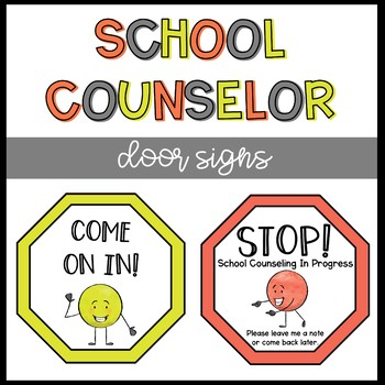 School Counseling Door Sign Double Sided By The Responsive