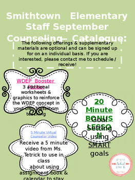 School Counseling Editable Newsletter and Catalogue for Teachers and Staff