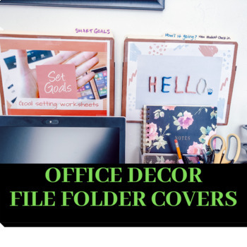 School Counseling-File Folder Covers-Office Decor