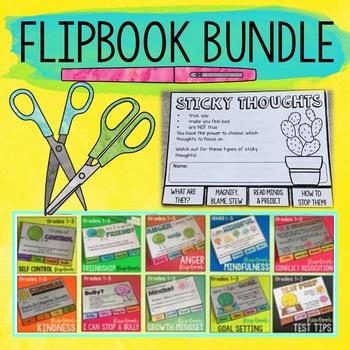 School Counseling Flipbook Bundle Grades 1-4