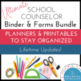 School Counseling Binder & Forms Bundle - Updated for 2017