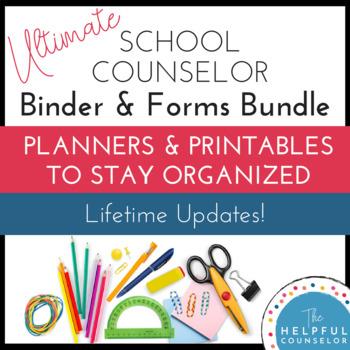 School Counseling Binder Forms Bundle
