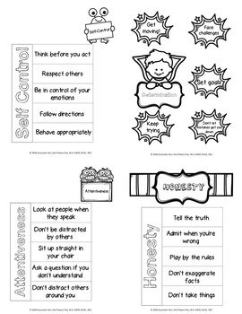 Character Education Interactive Notebook - Elementary School Counseling