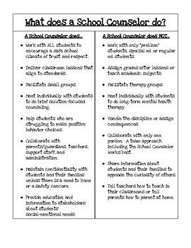 School Counseling Intern Informational Sheet