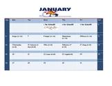 School Counseling January Lesson Plan Calendar