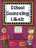 School Counseling Labels