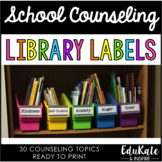 School Counseling Library Labels