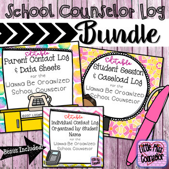 School Counseling Log Bundle Wanna Be Organized Counselor TpT