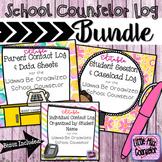School Counseling Log Bundle:  Wanna Be Organized School C