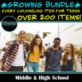 COMPLETE GROWING BUNDLE of every COUNSELING item for TEENS