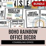 School Counseling Office Bundle | Boho Rainbow