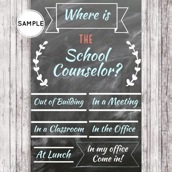 School Counseling Office Decor / Back to School