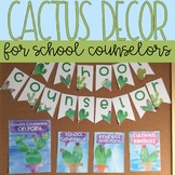 School Counseling Office Decor: Watercolor Cactus Decor