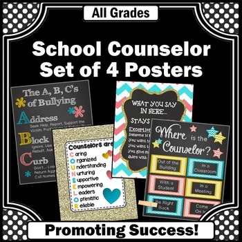 Where is the School Counselor Signs, Confidentiality Rules, Appreciation Gifts