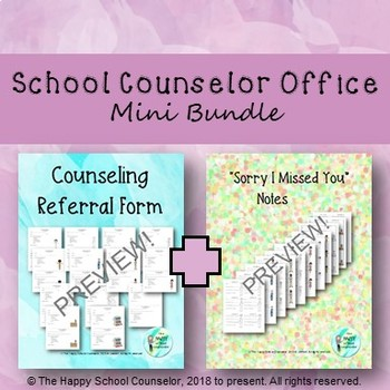 School Counseling Office Mini Bundle Sorry I Missed You Note